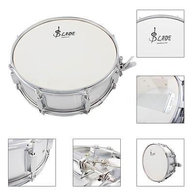 Professional Snare Drum Head 14 Inch with Drumstick Drum Key Strap Silver M9F4