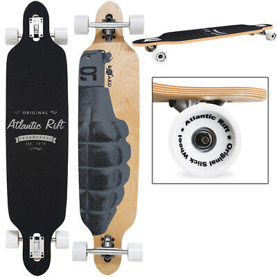 "SKATEBOARD LONGBOARD - ORIGINAL ""Atlantic Rift"" 107 x 24cm - Roues ABEC 7"