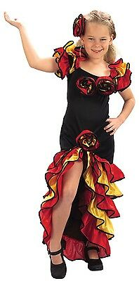 Girls Spanish Rumba Dancer Around the World Fancy Dress Costume Outfit 4-14 yrs