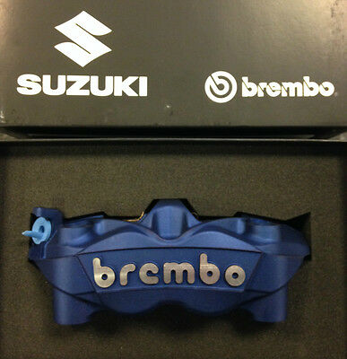 Suzuki GSXR 1000 Brembo 108mm Monoblock front brake calipers in blue, pair of