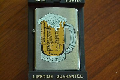 ZIPPO Lighter, Mug of Beer, Pitcher, Brushed Chrome, XII/1996, Sealed, M1158