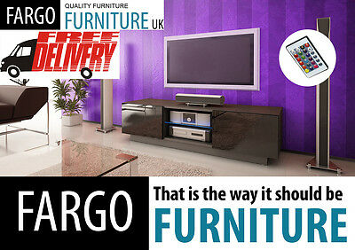 140CM TV STAND CABINET UNIT STANDING + FLOATING  white / black + RGB LED