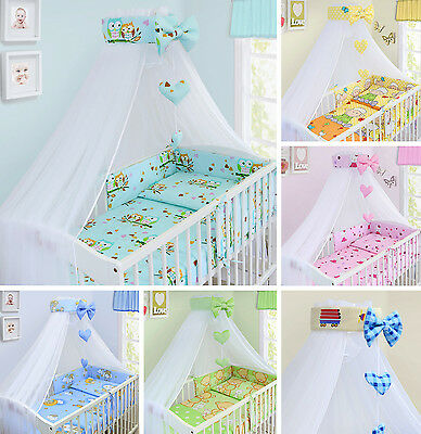 Babymam Bedding Set Nursery Pillow Duvet Cover Bumper Canopy Cot Cotbed