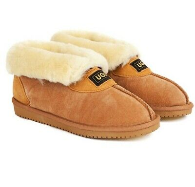 Originals Ugg Australia Sheepskin Slippers 6 7 8 9 10 11 12 Mens Womens Chestnut