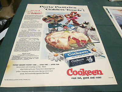 (##) Vintage Advert - Cookeen  Real Fat - Good And Rich 3Rd December 1955