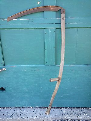 "Vintage Antique 57"" Long Scythe Hay Grain Sickle Farm Tool Blade is 24"" Long"