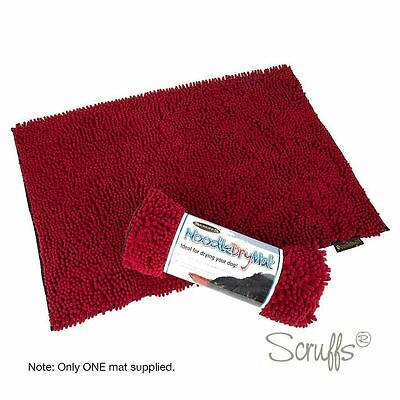 Scruffs Noodle Dry Mat Red Ideal for drying your dog