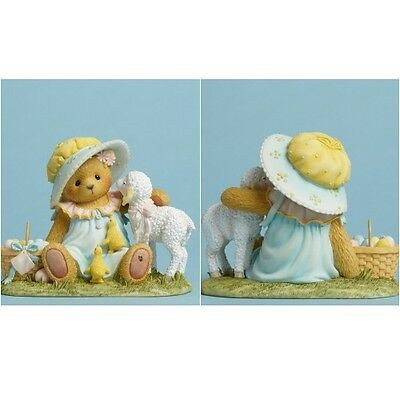 Cherished Teddies Collectible Bear Basket Lamb #404691 Easter Decor New In Box