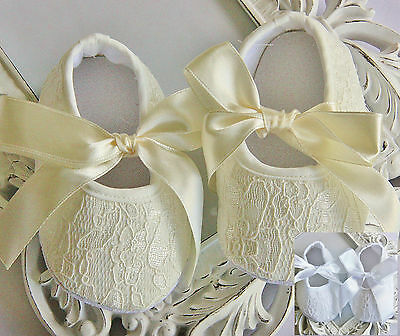 White Ivory Baby Girl Satin Shoes Christening Crib Pram Prewalkers