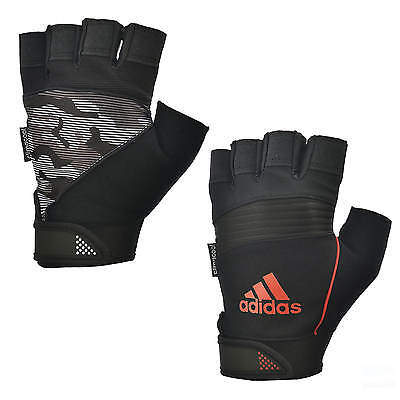 Adidas Half Finger Performance Gloves Weight Lifting Gym Exercise Training