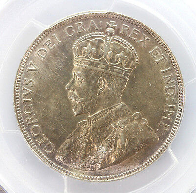 1919 Canada Silver Half Dollar George V-AU Details Genuine Cleaning 90261h
