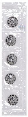 2016-P Isle of Man 1 Troy Oz Reverse Proof Silver Angel- Lot of 5 Coins SKU40453