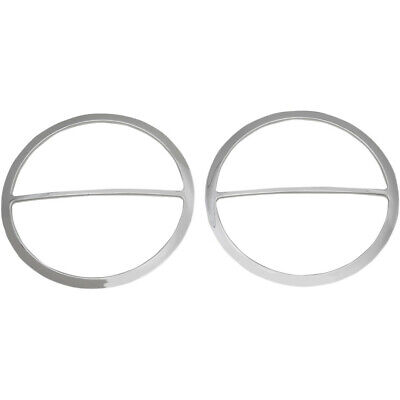 Drag Specialties Chrome Front Speakers Accents for Harley 14-16 FLH/X Models