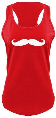 cb36ee41a Mustache Funny Soft Ladies Racerback Tank Top Graphic Tank No Shave  November Z6