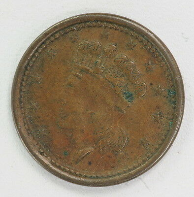 "1864 Antique US Civil War Token CWT ""Union Forever"" Patriotic Coin"