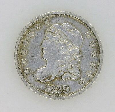 1829 Capped Bust Half Dime In Extra Fine Condition 90% Silver US Coin