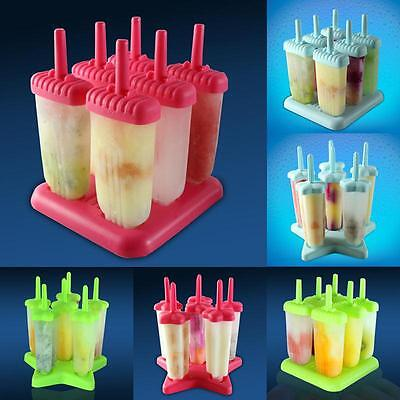 New Ice Cream Frozen Maker Mold Icepop Block Juice Lolly Pole Tray For Popsicle