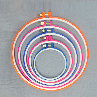 Useful Multi-Color Embroidery Cross Stitch Machine Hoop Ring 5/6.5/7.1/7.9 Inch