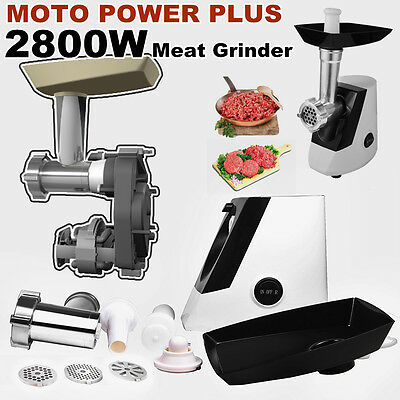 2800w Stainless Electric Meat Grinder Mincer Kubbe Maker Sausage Filler Maker AU