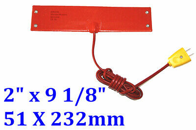 """2""""x 9 1/8""""220V 100W 4 eyelets in short side W/ plug  silicone rubber heater 1 PC"""