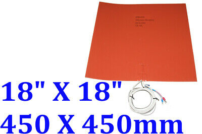 450mm X 450mm 230V 760W with K TypeThermocouple with 3M 1 PC Silicone Pad Heater