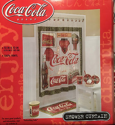 Coca Cola Coke Official Licensed Shower Curtain Vinyl New