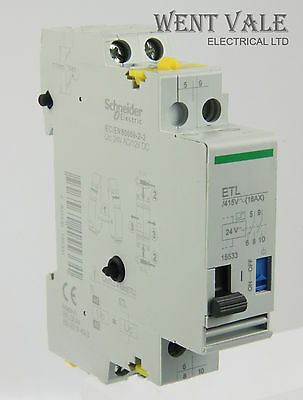 Schneider ETL 15533 16ax Two Pole Impulse Relay/Contact Aux 24vac Coil New
