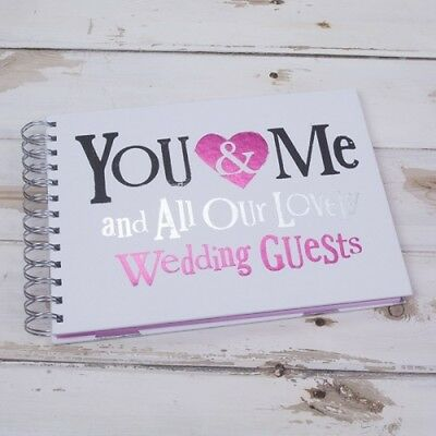 Bright Side Wedding Guest Book - You & Me - Modern Wedding reception guest book