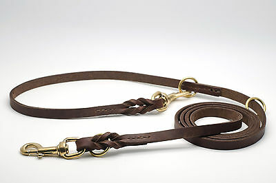 Guinzaglio Artigianale regolabile in Cuoio - Handmade Leather adjustable Leash