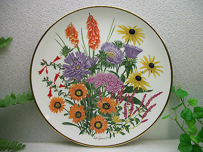 Mint FRANKLIN PORCELAIN Wedgwood FLOWERS OF THE YEAR plate collection SEPTMEMBER