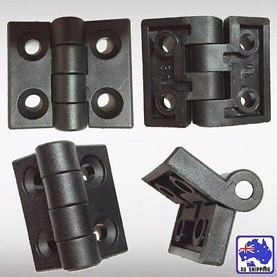 4pcs Plastic Hinge Bearing Butt Household 2-leaf 50x45mm Door Black TNDOR5559x4