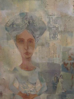 Mid Modern American Garthwaite Expressionism Fine Painting Listed Artist Ny Ny