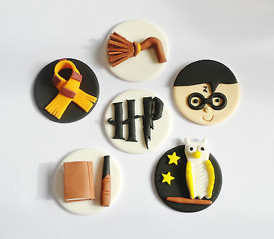 Harry Potter Edible Cup Cake Toppers X 6 Or 12 - Fantastic Value!!
