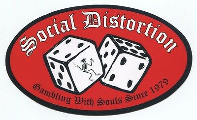 SOCIAL DISTORTION Gambling With Souls Since 1979 STICKER *Free Shipping* S-2097