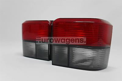 VW Transporter T4 90-03 Smoked Red Rear Tail Lights Lamps Pair Set Left Right