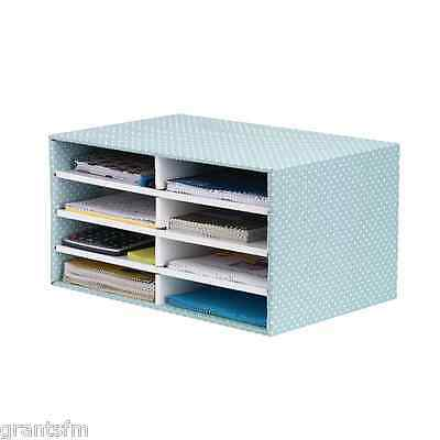 Home Office Desk Organiser Paper Letter Mail Document Compartments Storage Boxes