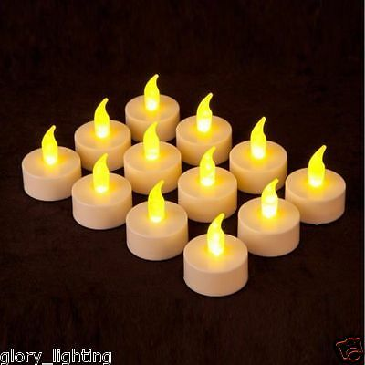 12 X Led Tea Light Tealight Candle Flameless Wedding Decoration Battery Included