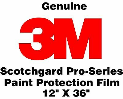 "Genuine 3M Scotchgard Paint Protection Film Pro Series Clear Bra Roll 12"" x 36"""