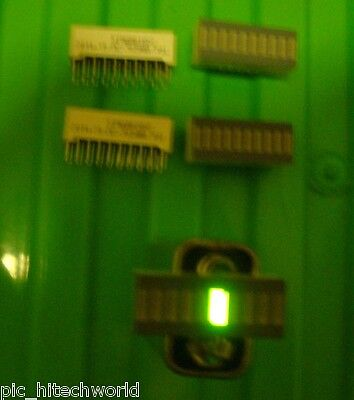 4pcs LED bargraph display 2-color green 7 red 3