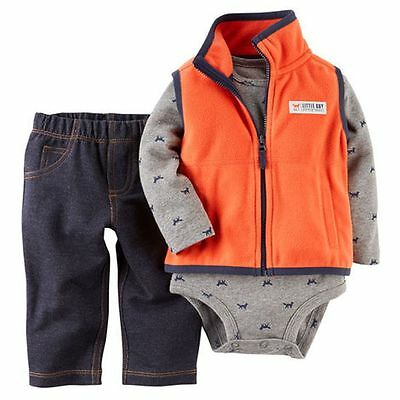New Carter/'s Boys 3 Piece Handsome Fella Outfit Set NWT Preemie 3m 6m 9m 12m