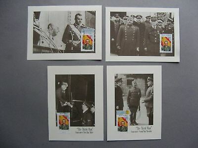 MONTSERRAT, 4x 1st-day card 1998, King Alfonso XII of Spain