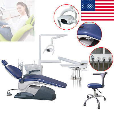 Dental Chair & Stool Computer Control Hard Leather Exam FDA CE +Direct TO DOOR