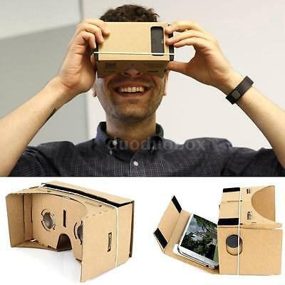 """DIY 3D VR Box Virtual Reality Cardboard Glasses Headset for 5.5"""" Smartphone S8D9"""