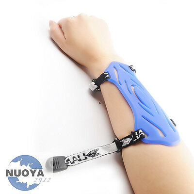 Rubber Blue Protector Arm Guards Barcer For Archery Compound & Recurve Bow