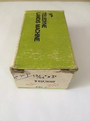 "LANDIS ENGLAND HSS Threading Chasers 13/64"" X 3"" 9 BSF/WHIT CN5 TAP NEW"