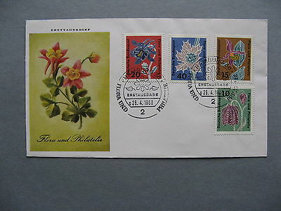 GERMANY BRD, cover FDC 1963, flower orchid, different cover design