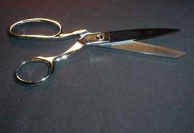 """Silver Eagle Knife-Edge Bent Trimmers  8"""" shears for leather, fabric & feathers"""