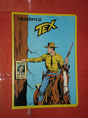 RARO QUADERNO TEX- SERIE GIALLA RETRO CON FUMETTO-daim press e mondadori QUADRO