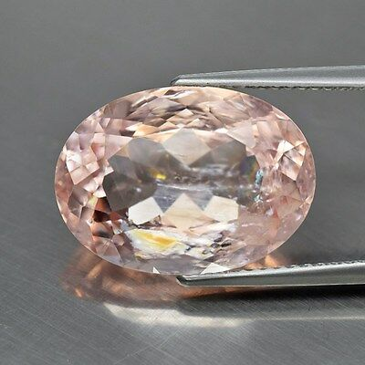 Beautiful Color! 9.81ct 16.5x12mm Oval Natural Unheated Peach Pink Morganite