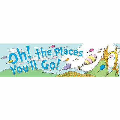 Eureka Dr. Seuss Oh The Places Balloons Classroom Banner (849581)